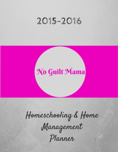 Homeschooling & Home Management Planner cover