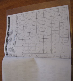 40 crosses lenten calendar